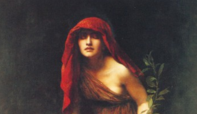 John Collier's 1891 painting, Priestess of Delphi.